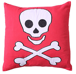 Pirate Skull and Crossbones Cushion - cushions