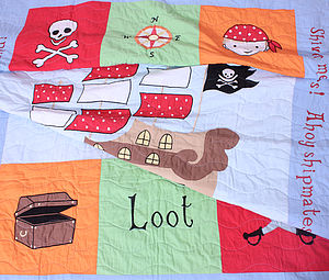 Pirate Quilt - bedspreads& quilts