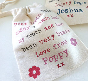 Personalised Child's Tooth Fairy Bag - children's accessories