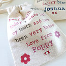Personalised Child's Tooth Fairy Bag