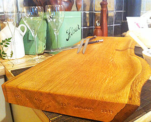Self-Draining Oak Carving Board/ Sunday Roast board - kitchen accessories