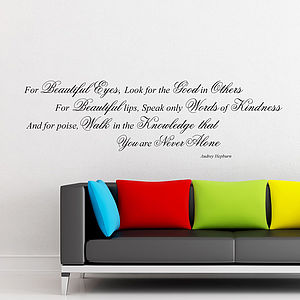 Audrey Hepburn Quote Wall Stickers