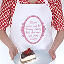 Personalised '…May Not Be Mary Berry' Apron