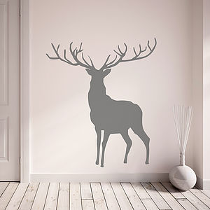 Stag And Deer Vinyl Wall Stickers - bedroom