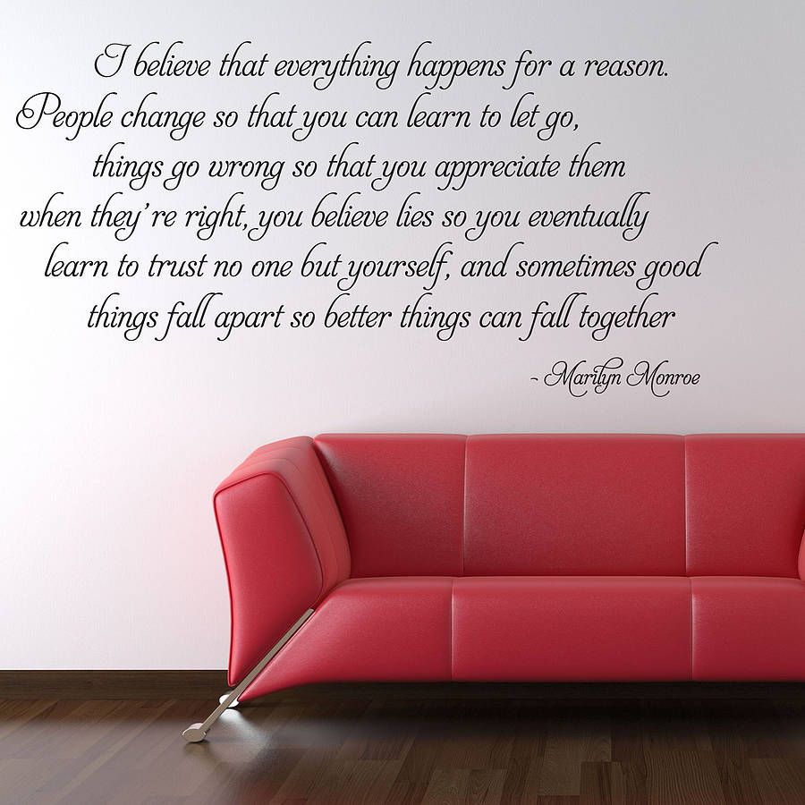 Wonderful I Believe Marilyn Monroe Wall Stickers Part 7
