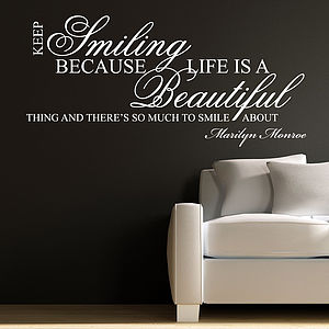 Keep Smiling Wall Stickers - wall stickers