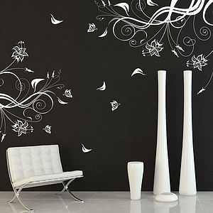 Butterfly And Vine Wall Sticker - wall stickers