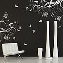 Butterfly And Vine Wall Stickers