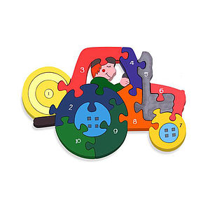 Number Tractor Jigsaw Puzzle - educational toys