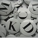 Metal Letter Tags