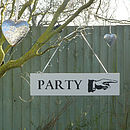 'Party' Directional Sign