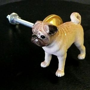 Pug Cupboard Knob - home accessories