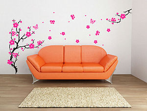 Plum Blossom Branch Wall Stickers - decorative accessories