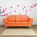 Plum Blossom Branch Wall Stickers
