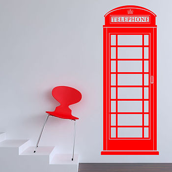 Phone Box Wall Sticker
