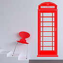 British Telephone Box Wall Sticker