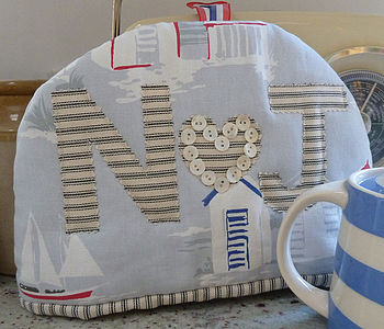 Personalised Seaside Tea Cosy