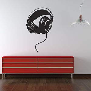 Headphones Wall Stickers - home decorating
