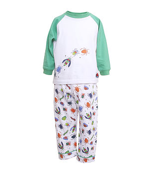 Boy's Bug Print Pyjamas