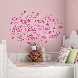 'Twinkle Twinkle Little Star' Wall Stickers - wall stickers