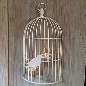 Hanging Wall Bird Cage And Candles - lighting