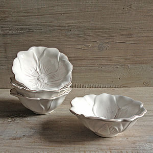 Set Of Two Flower Bowls - soap dishes