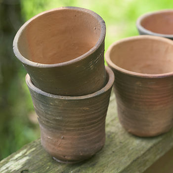 Set Of Two Handmade Terracotta Pots