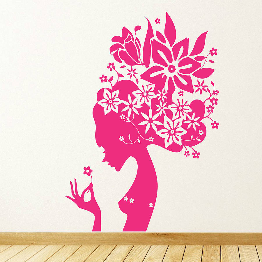 Flower girl wall stickers by parkins interiors flower girl wall stickers amipublicfo Images