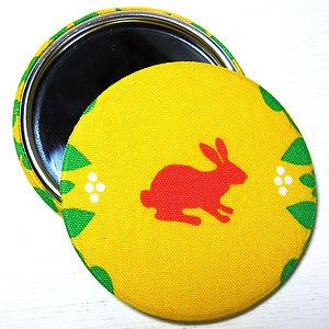 Rabbit Fabric Pocket Mirror