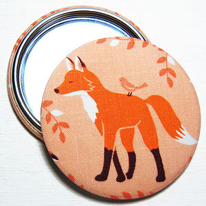 Fox Fabric Pocket Mirror - beauty & pampering