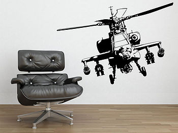 Military Helicopter Wall Stickers