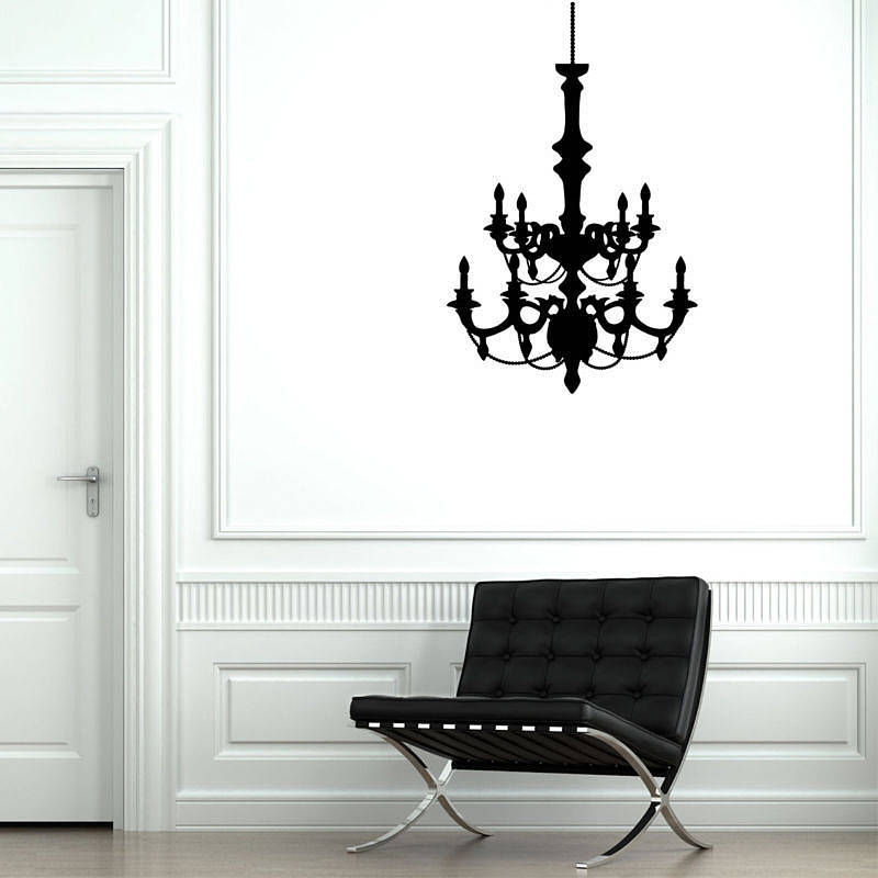 Contemporary Chandelier Wall Stickers