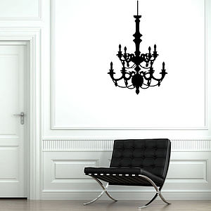 Contemporary Chandelier Wall Stickers - wall stickers by room