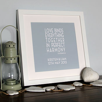 Personalised 'Love Binds' Canvas Print