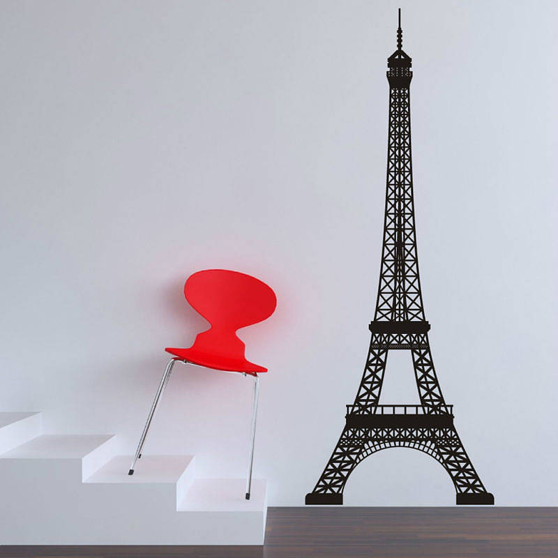 eiffel tower wall stickers by parkins interiors extra large eiffel tower vinyl wall decal