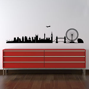 London Skyline Wall Stickers - living room