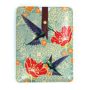 Leather Hummingbird Case For IPad Mini