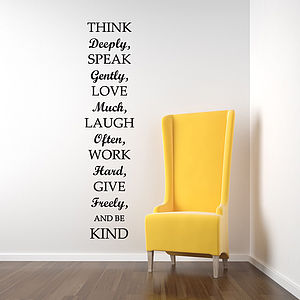 Think Deeply Quote Wall Stickers