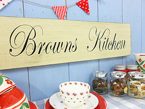 Personalised Wood Vintage Style Plaque