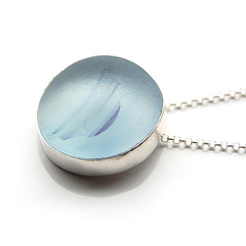 Round Sea Glass Pendant