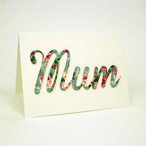 'Mum' Card - shop by category