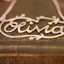 Handmade Silver Decorative Name Necklace