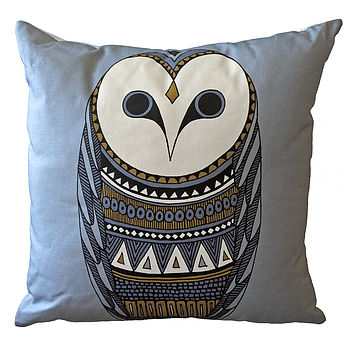 Owl Print Cushion