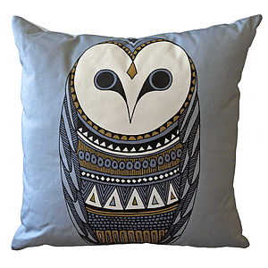 Owl Print Cushion - cushions