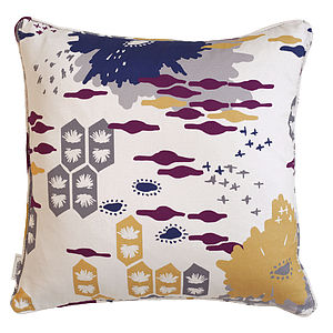 Abstract Flower Cushion - bedroom