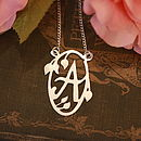 Handmade Decorative Initial Necklace