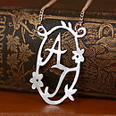 Handmade Decorative Double Initial Necklace