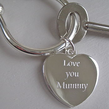 Silver Plated 'Love You Mummy' Keyring
