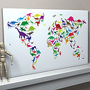 Dinosaur World Map Art Print