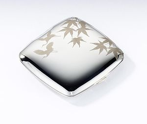 Laser Engraved Compact Mirror - beauty gifts